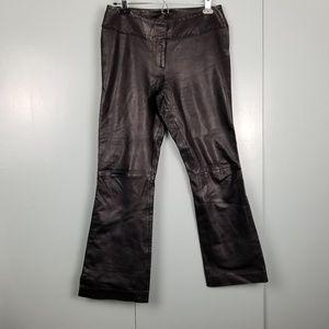 Cache 100% Black leather pants size 6 -C9